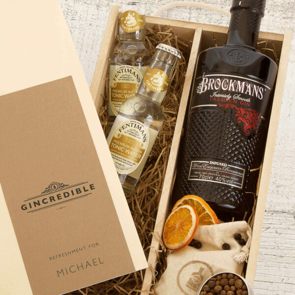Personalised Brockman's Gin Gift Box