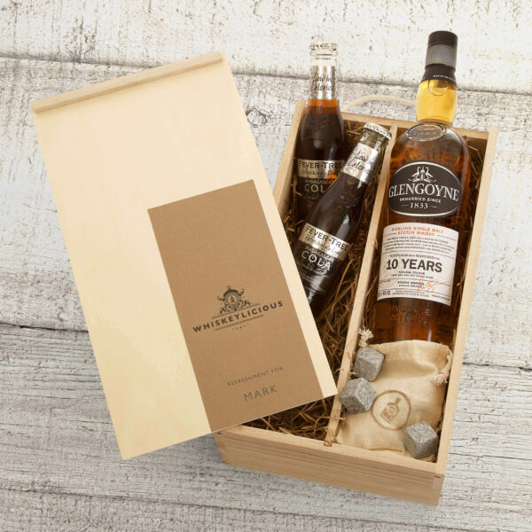 Personalised Glengoyne 10 Year Old Whiskey Father's Day Gift Box