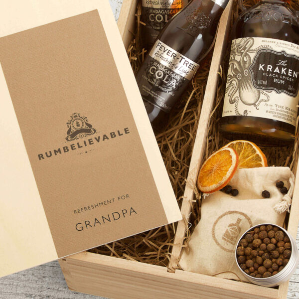 Personalised Kraken Rum Father's Day Gift Box