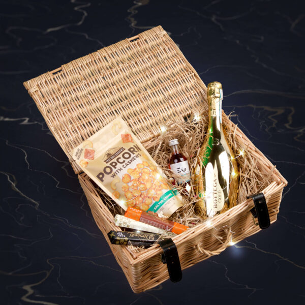 Personalised prosecco and gin gift hamper
