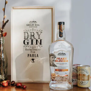 Peaky Blinder Dry Spiced Gin Personalised Gift Box with Tonics - 40%ABV