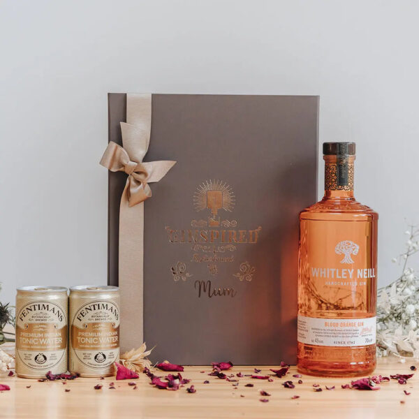 Whitley Neill Blood Orange Personalised Gift Box with Fentimans Tonics.