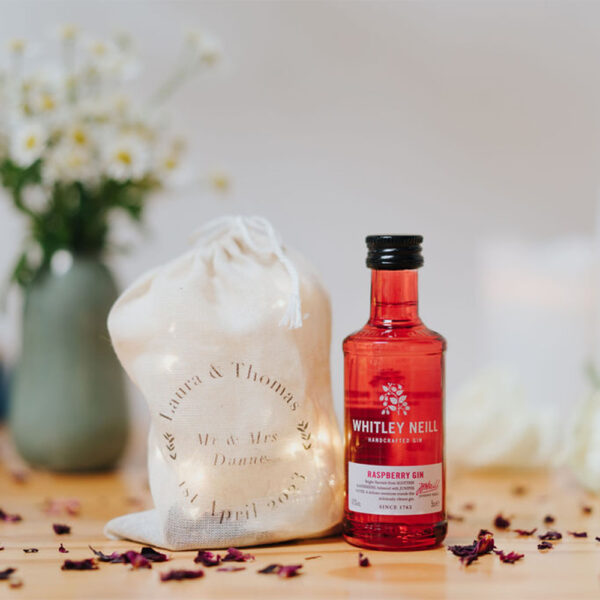 Whitley Neill Raspberry Gin Wedding Favour - 5cl 43% ABV