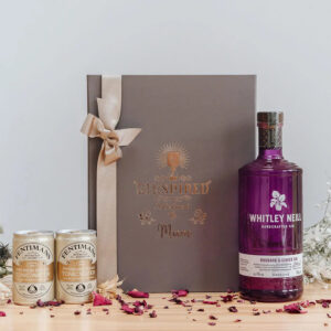 Whitley Neill Rhubarb and Ginger Personalised Gift Box with Indian Tonics